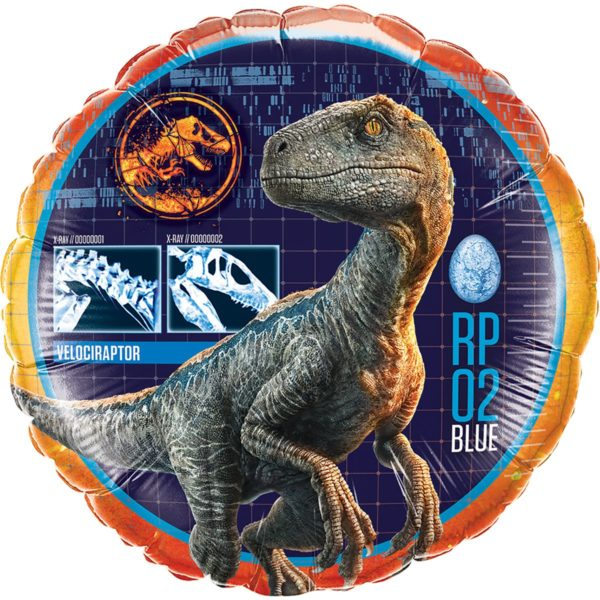 """Фольгированные шарики с рисунком динозавр раптор 18"""" (45см)"""