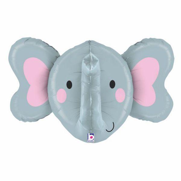 Фольгированный шар голова слоненка 3d