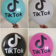 """Воздушный шар с рисунком """"Tik-tok"""""""